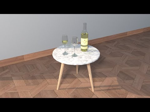 [SketchUp] Wine Bottle and Glass Modeling/Rendering Tutorial