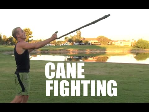 Fighting With A Walking Cane