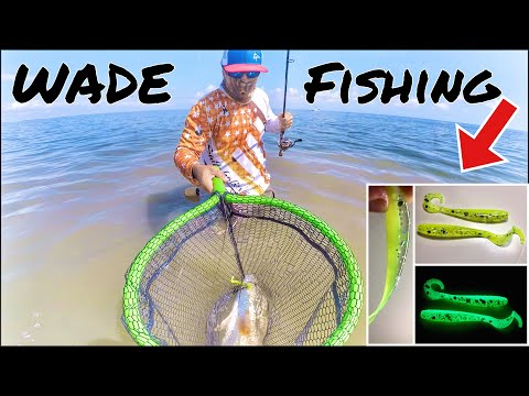 WADE FISHING For REDFISH And TROUT In Arroyo City | Port Mansfield, Tx | AM Soft Plastics