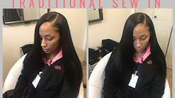 Traditional Side Part Sew In | VRBEST hair review