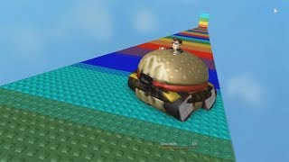 ROBLOX: THE OLD MAN DESCENDED THE COLORFUL RAMP INSIDE A GIANT BURGER!