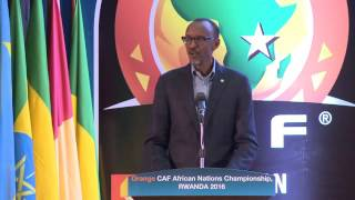 President Kagame presides over the Official Draw Ceremony of CHAN, Rwanda 2016