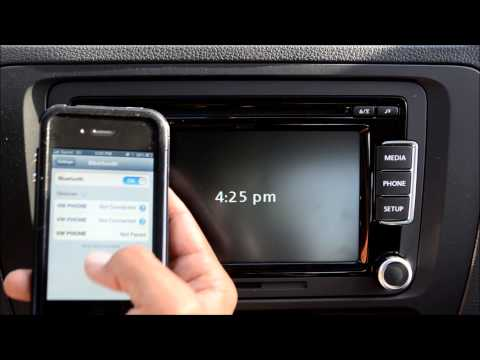 How to pair 2013 VW Jetta, Beetle, Golf Bluetooth