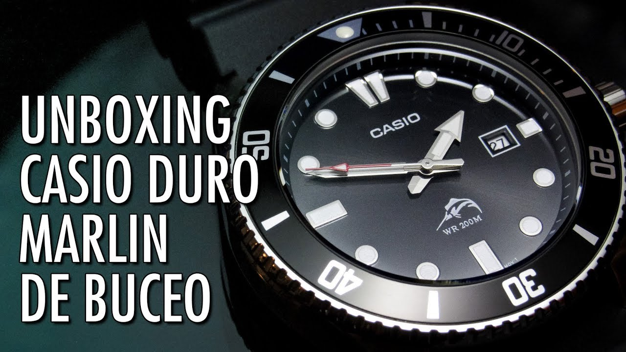 402ba811125b Unboxing Casio Duro   Marlin MDV-106 Reloj de Buceo en Español - YouTube