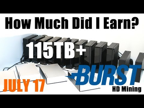 How Much Did I Earn In July? 115TB+ Burstcoin HardDrive Mining Rig