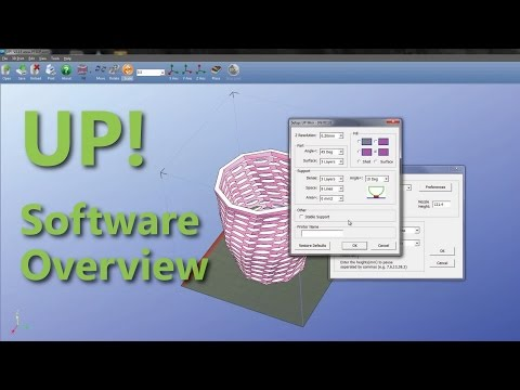 UP! 3D Printing Software Overview - 2015