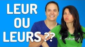 LEUR ou LEURS ? Évite cette erreur en français !