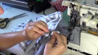 Como costurar uma camiseta de malha listrada! Dicas da Gê