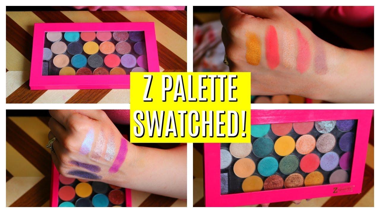 Swatching my Z Palette Single Eyeshadow Collection! COLOURPOP MAKEUP GEEK MAC