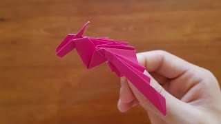 How to Make an Origami Dragon (EASY)