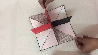 Square circular pop up card
