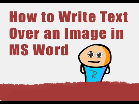 how to write text on image in word
