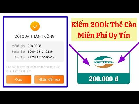 Cách Kiếm Thẻ Cào 200k Miễn Phí Trên Điện Thoại | Kiếm Thẻ Cào Nhanh Nhất