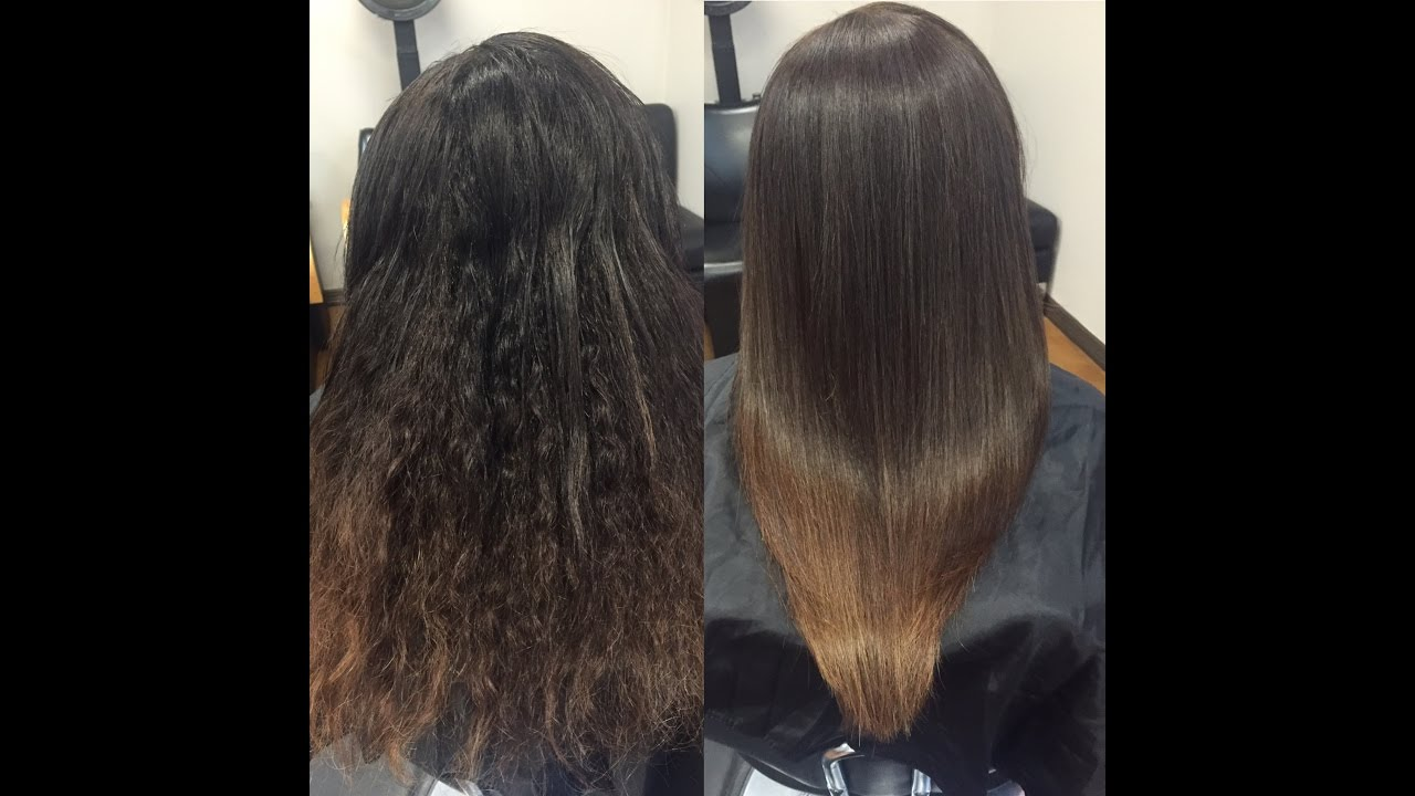How to do Brazilian Blowout. Wavy to silky straight hair ...