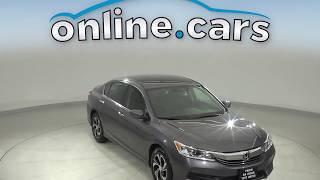 A13040TA Used 2017 Honda Accord Gray Sedan Test Drive, Review, For Sale