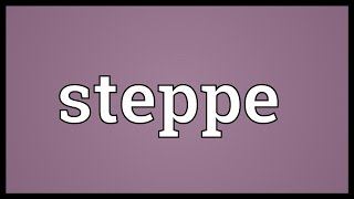 Steppe Meaning