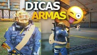 (DICAS) COMO JOGAR COM CADA ARMA DO FREE FIRE BATTLEGROUNDS
