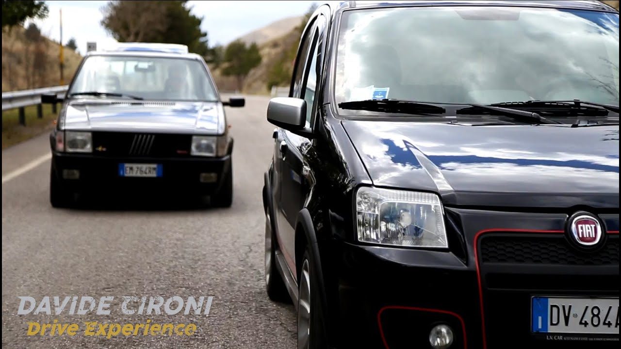 fiat panda 100 hp vs uno turbo davide cironi drive. Black Bedroom Furniture Sets. Home Design Ideas