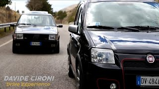 Fiat Panda 100 HP vs Uno Turbo: So different with the same power - Davide Cironi (SUBS)