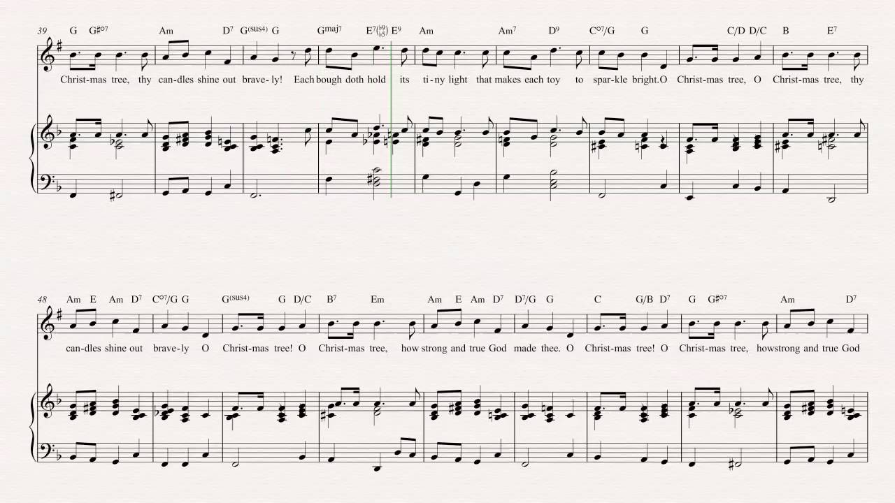 Christmas Carols Sheet Music.Cornet O Christmas Tree Christmas Carol Sheet Music Chords Vocals