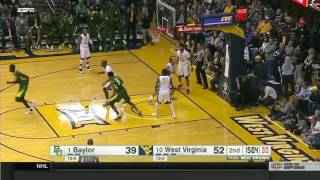 Baylor at West Virginia | 2016-17 Big 12 Men's Basketball Highlights