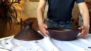 Таджин керамический(Перед вами уникальное авторское изделие - таджин из экологически чистой красной гжельской глины двойного..., 2016-09-22T18:48:23.000Z)