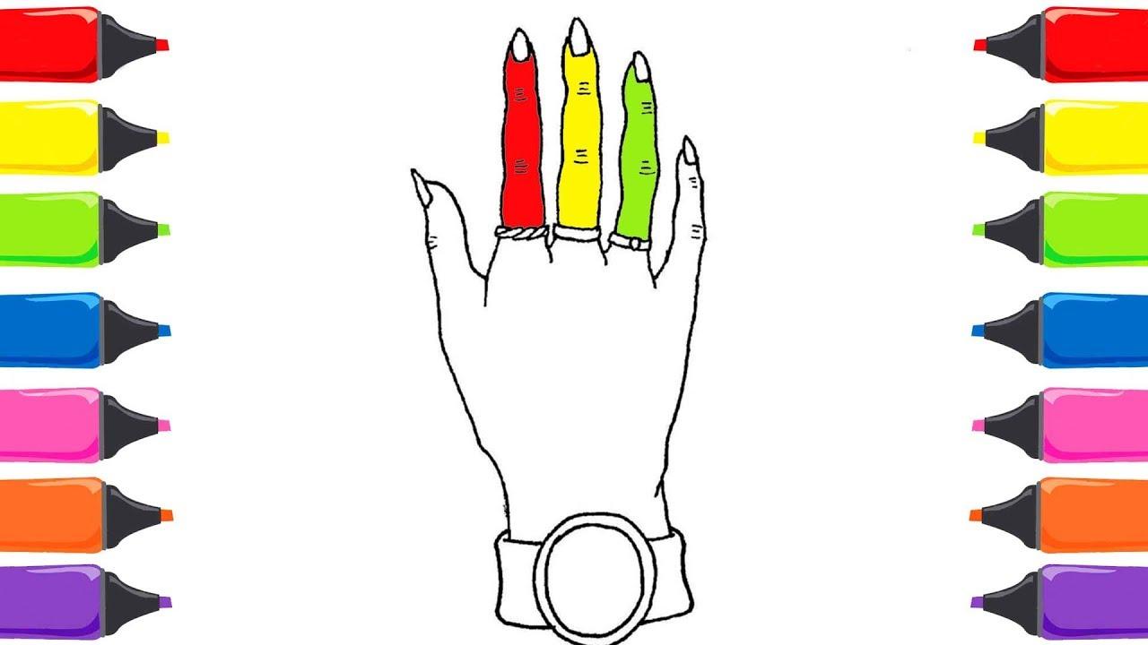 Parmak Ailesi Boyama Renkleri öğreniyorum Nasıl çizilir