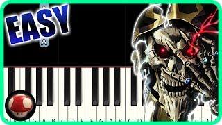 GO CRY GO - Overlord Season 2 OP - EASY Piano Tutorial / オーバーロードⅡ【ピアノ簡単楽譜】GO CRY GO by TAM