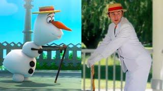 Download lagu Disney Olaf vs. Olaf in Real Life