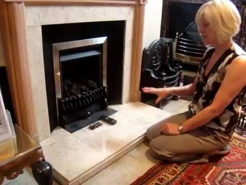 How to change your batteries on your gas fire - YouTube