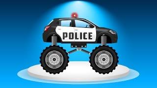 Мультики про Полицейские машины  Монстр Трак  Погоня за нарушителем