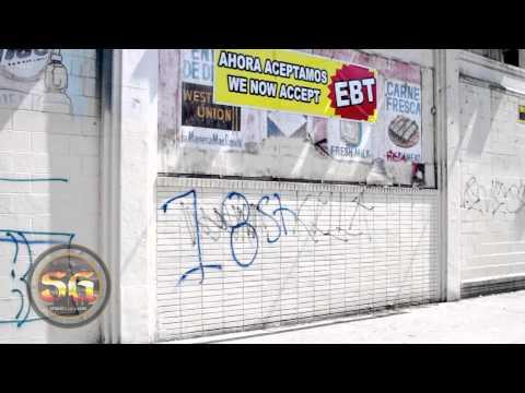Mara Salvatrucha and 18th Street gang graffiti in Los Angeles