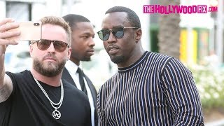 Sean 'Diddy' Combs Is Congratulated On His Pregnancy With Cassie While Shopping On Rodeo Dr.