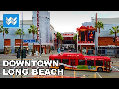 🎧 3D Binaural Audio - Downtown Long Beach City Walk Tour 【4K】