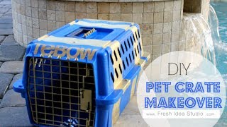 Diy Pet Crate Makeover From Fresh Idea Studio