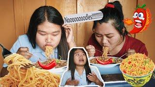EXTREME NOODLES EATING CHALLENGE