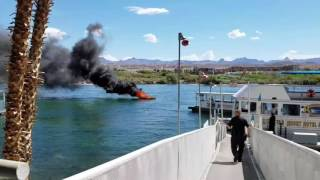 Colorado River Speed Boat On Fire
