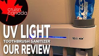 UV Toothbrush Sterilizer Toothpaste Dispenser from Banggood | Review