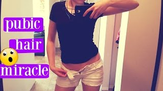 NATURALLY THIN OUT PUBIC HAIR WITH SPEARMINT TEA!! | BEST PUBIC HAIR REMOVAL!