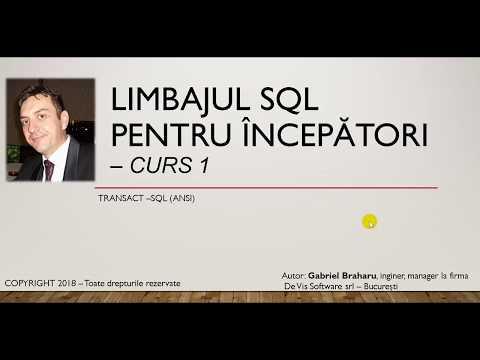 Limbajul SQL Pentru Incepatori - Transact SQL (ANSI) - Curs 1