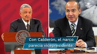 El Presidente Andrés Manuel López Obrador señaló que por el narco-Estado que hubo en México, era como si uno de estos jefes de los cárteles hubiera estado de vicepresidente de la República