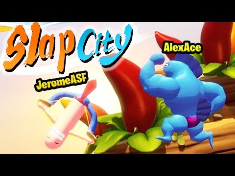 THE MOST RIDICULOUS SUPER SMASH BROS STYLE GAME - SLAP CITY