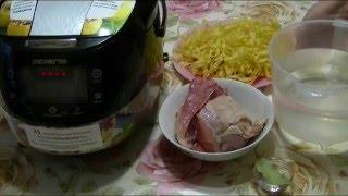 Домашние видео рецепты - вкусный суп с лапшой в мультиварке
