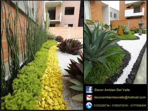 Jardines peque os estilo decor ambientes del valle youtube for Diseno de jardines pequenos para casas