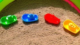 Play with Sand Molds toys on outdoor playground pool