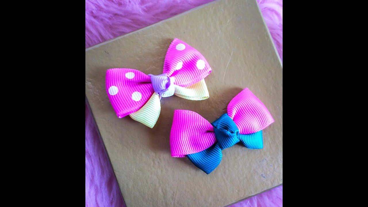 diy make ribbon bow hair