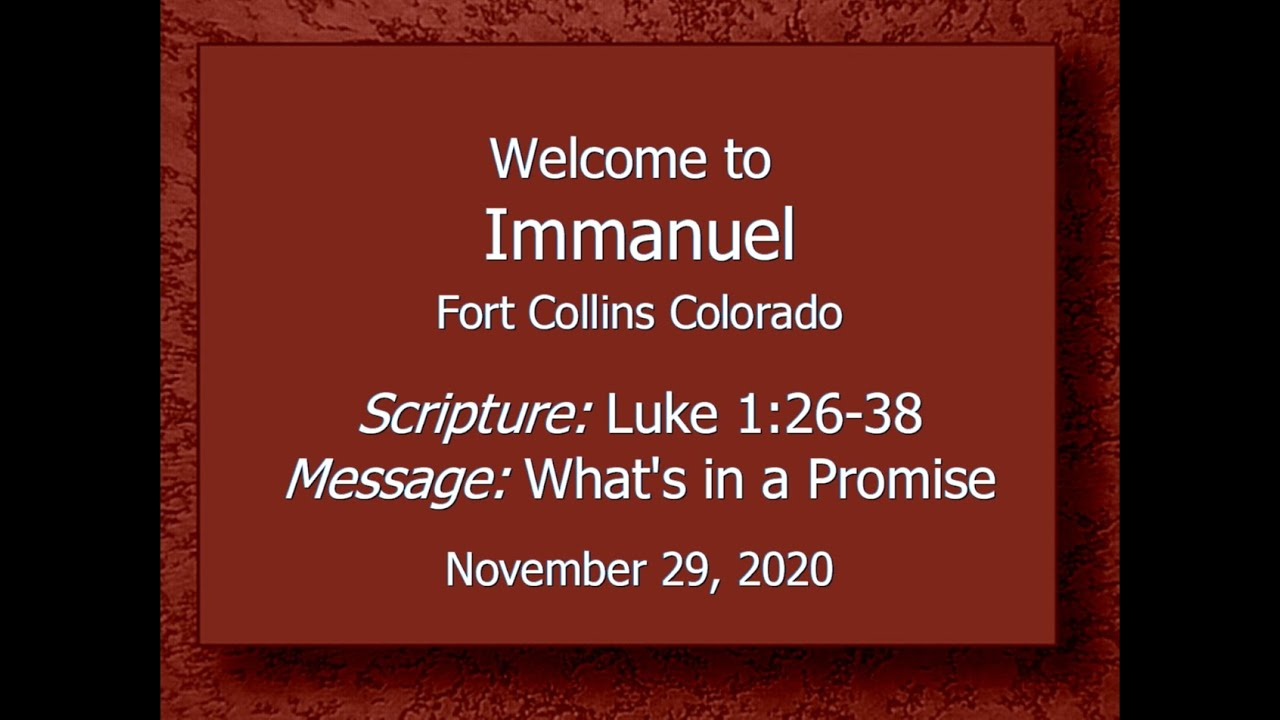 2020-11-29 Immanuel CRC Service Fort Collins