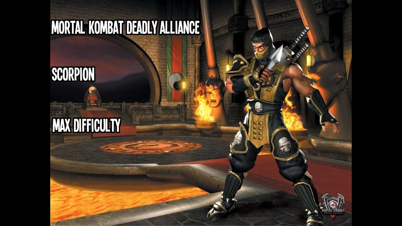 Mortal Kombat Deadly Alliance Scorpion Max Difficulty
