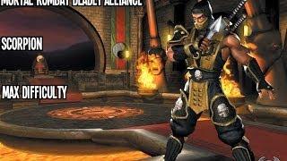 Video Mortal Kombat Deadly Alliance - Scorpion - Max Difficulty download MP3, 3GP, MP4, WEBM, AVI, FLV November 2017