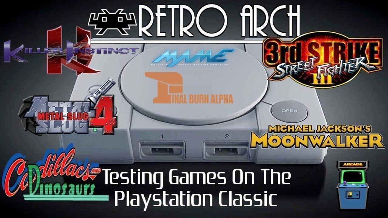 Playstation Classic MAME / FBA Test - Killer Instinct / Metal Slug